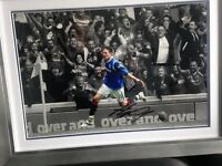 RANGERS Kyle Lafferty signed framed print £30 COLLECTORS