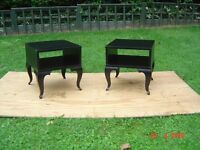 Pair of Black Bedside Cabinets / Side Tables. Can Deliver.