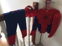 Kids fancy dress bundle, batman, spider man, knight, fireman (age 3-5yrs)