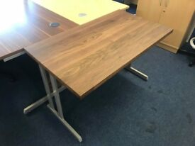 New walnut small desk- only 1 available -home office desk- computer desk
