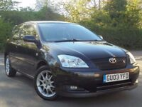 TOYOTA COROLLA 1.8 T SPORT BLACK 2004 BREAKING FOR SPARES TEL 07814971951