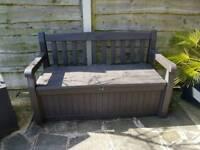 Garden Keter Storage Bench - Brown