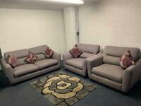 Pending Grey fabric sofas 3/1/1 sofa suite couch furniture delivery 🚚