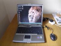 Laptop Dell Latitude D610, Windows XP, 1GB RAM, 40GB RAM plus USB mouse