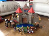 PlayMobil Knights Castle with lots of extras including dragon