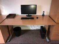 Suite of solid oak Office furniture