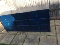 Wooden Chest of Drawers Blue