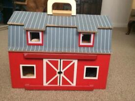 Wooden Red Barn