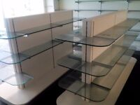 Brand new unused Pharmacy Shelving, glass cabinets, electric front desks