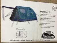 Freeman BALMORAL XL 5/6 person tent.