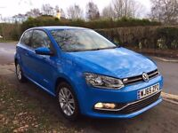 65 PLATE VOLKSWAGEN POLO BLUE 1.2 TSI 4,500 MILES ONLY NEW CONDITION INSIDE AND OUT