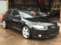 +2008 AUDI A3 2.0 TDI S-LINE S-TRONIC AUTOMATIC +SAT NAV +XENONS + RS3 GRILLE + LEATHER + PX +SWAPS+