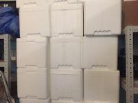 "Free Polystyrene Boxes 15"" x 11"" x 11"" (38cm x 28cm x 28cm)."