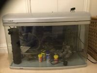 32 inch Fish tank complete with pump and ornaments etc