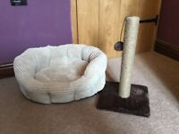 Cat scratching post and bed