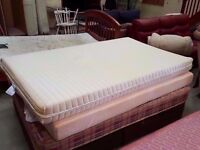 Foam small double mattress with removable cover. Used