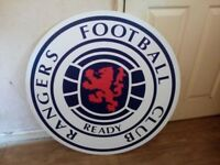 Rangers FC large sign for sale x2