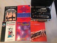 Clarinet and 5 music books