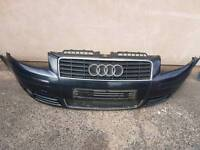 Audi a3 8p front bumper 3 door Metallic grey