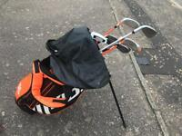 Full set of children's golf clubs with bag