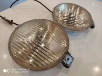 Pair of Vintage Hella Halogen SF-S50 Chrome Lights - Classic Car