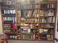Bookcase and storage: W280cm H200cm very good condition