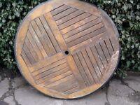 oak garden table top