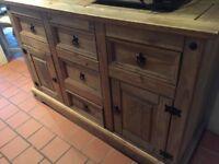 Solid pine sideboard/dresser