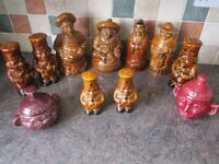 P & K and Sadler Kitchen Character Containers 1960s Great for Country Kitchen Ex Condition