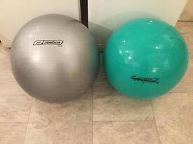 Two exercise balls