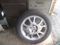 Galaxy alloy wheel and tyre