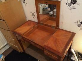 Antique Dressing Table with Mirror (Optional Marble)