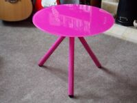 Misy Lamp / Coffee / Occasional Table - Hot Pink!