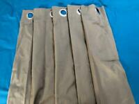 4 long IKEA eyelet curtains - suitable for bay window
