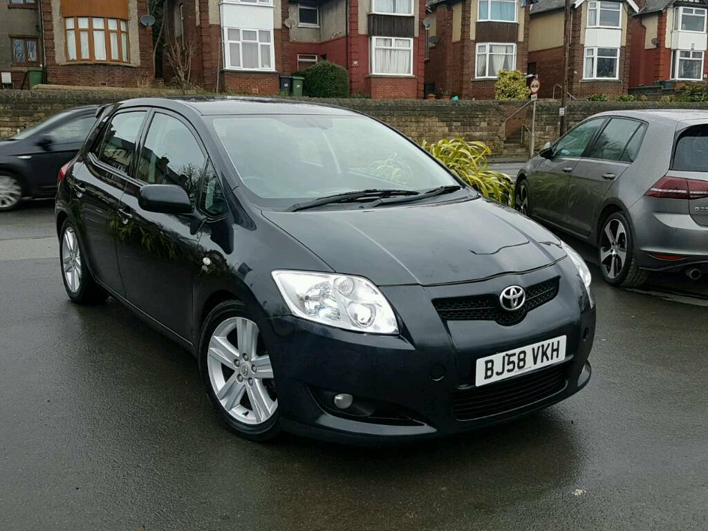 2009 toyota auris 2 2 d4d t180 sr manual 5 door black 12 months mot good runner hpi clear. Black Bedroom Furniture Sets. Home Design Ideas