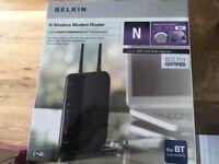 BELKIN (N) WIRELESS MODEM ROUTER