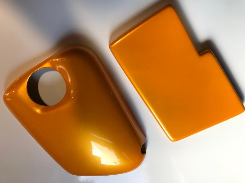 Tangerine Scream Ford Focus St Coolant Header Tank and Fuse Box Cover