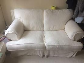 2 person cream sofa / couch - must go by July 28