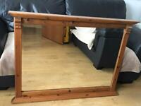 LARGE DUCAL PINE MIRROR