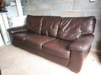 NOW SOLD 3 Seater Sofa Bed with king size mattress