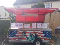 American burger and hot dog cart
