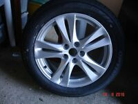 "KIA/HYUNDAI 7J x 18"" alloy wheel and unused tyre"