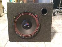 RETRO CLASSIC OLD SCHOOL BM BOSCHMANN SUB SUBWOOFER SPEAKERS GREY IMMACULATE MINT CONDITION 400WATTS
