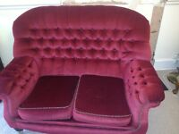 3 and 2 seater button backed sofa for sale