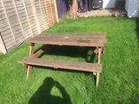 Pub picnic bench