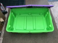 THREE UNDER BED STORAGE BOXES - On Wheels - Top opening for easy access