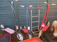 vintage items including scooters etc.all different prices