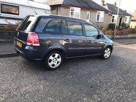 Vauxhall Zafira 1.9 Cdti Diesel low miles and mot 7 seater