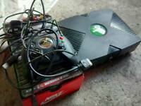 Xbox original console with fab bunch of games