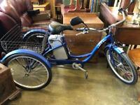 Electric three wheeler bicycle
